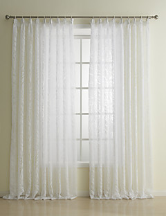 To paneler Window Treatment Neoklassisk Stue Polyester Materiale Gardiner Skygge Hjem Dekor For Vindu