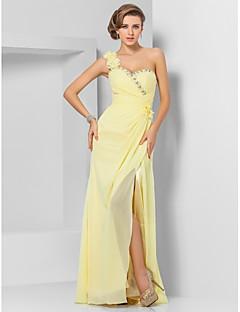 strapless tulle a line floor length dress