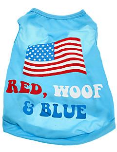犬 Tシャツ 犬用ウェア 国旗 アメリカ/ USA