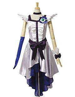 """billige Anime Kostymer-Inspirert av PrettyCure Cure Moonlight Anime  """"Cosplay-kostymer"""" Cosplay Klær Kjoler Lapper Ermeløs Kjole Hodeplagg Hanske Armbånd Sløyfe"""