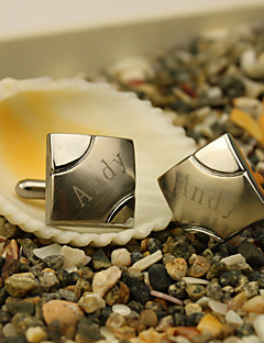 hesapli Broş ve Kol Düğmeleri-Kişiselleştirilmemiş Malzeme Paslanmaz Çelik Diğerleri Gelinlik Aksesuarları Kol Düğmeleri ve Kravat Tokaları Düğün Parti Yıldönümü