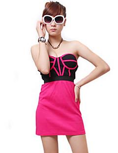 お買い得  セール-女性用 ルーズ シース ドレス - バックレス, カラーブロック