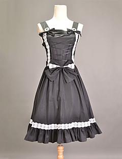 Μονοκόμματο/Φορέματα Κλασσική/Παραδοσιακή Lolita Πριγκίπισσα Cosplay Φορέματα Λολίτα Patchwork Αμάνικο Μεσαίου Μήκους Φόρεμα Για την
