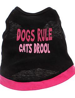 billiga Hundkläder-Hund T-shirt Hundkläder Hjärta Bokstav & Nummer Cotton Kostym För husdjur