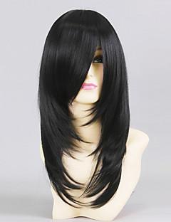 cheap Anime Cosplay-Cosplay Wigs Love Live Yayoi Shioiri Black Medium Anime Cosplay Wigs 50 CM Heat Resistant Fiber Male