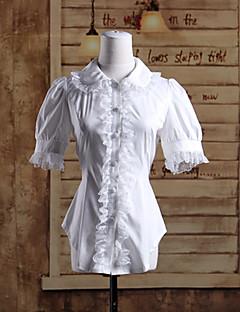 Μπλούζα/Πουκάμισο Γλυκιά Λολίτα Lolita Cosplay Φορέματα Λολίτα Μονόχρωμο Κοντομάνικο Lolita Μπλούζα Για την Βαμβάκι