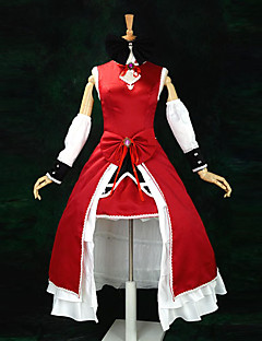 cheap Anime Costumes-Inspired by Puella Magi Madoka Magica Kyoko Sakura Anime Cosplay Costumes Cosplay Suits Dresses Patchwork Sleeveless Dress Sleeves