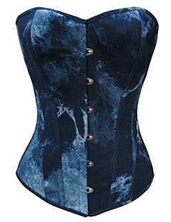 billiga Lolitamode-korsett gothic lolita klänning lolita klämmer på kvinnors blå lolita tillbehör färggradient lolita bomull / polyester duk