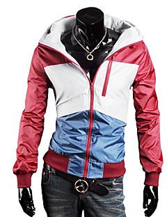 billiga Träning-, jogging- och yogakläder-Herr Lappverk Track Jacket - Röd sporter Överdelar Långärmad Sportkläder Vattentät, Håller värmen