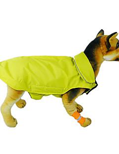 billiga Hundkläder-Katt Hund Kappor Väst Hundkläder Enfärgad Orange Gul Ros Röd Blå Nylon Kostym För husdjur Herr Dam Vindtät Håller värmen