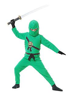 billige Halloweenkostymer-Soldat / Kriger Ninja Cosplay Kostumer Party-kostyme Barne Halloween Karneval Barnas Dag Festival / høytid Halloween-kostymer Drakter Lapper / Satin