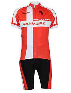 baratos -Kooplus Camisa com Shorts para Ciclismo Unisexo Manga Curta Moto Camisa/Roupas Para Esporte Shorts Conjuntos de Roupas Roupa de Ciclismo