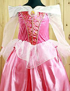 billige Halloweenkostymer-Prinsesse Eventyr Aurora Cosplay Kostumer Party-kostyme Barne Halloween Karneval Nytt År Barnas Dag Festival / høytid Halloween-kostymer
