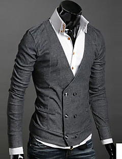 Men's V Neck Buckle Sweaters