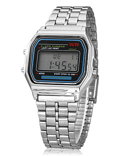 Herre Digital Watch Armbåndsur Digital Alarm Kalender Kronograf LCD Legering Band Sølv