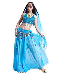 ריקוד בטן תלבושות בגדי ריקוד נשים שיפון חרוזים מטבעות