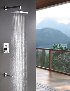tanie Baterie prysznicowe Sprinkle®-Współczesny  with  Chrom Jeden uchwyt Trzech otworów  for Wall Mount