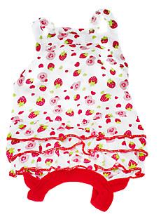 billiga Hundkläder-Hund Klänningar Hundkläder Frukt Röd Cotton Kostym För husdjur