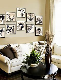 Çiçek/Botanik Çerçeveli Tuval / Çerçeve Seti Duvar Sanatı,PVC Malzeme Şampanya Keçesiz Frame ile For Ev dekorasyonu çerçeve Sanat
