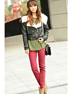 billige Outlets-INNA Kvinders Rød candy farve Elastisk Skinny Pants