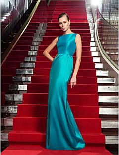 billiga Aftonklänningar-Åtsmitande Prydd med juveler Golvlång Taft Formell kväll / Formell fest Klänning med av TS Couture® / Kändis Stil