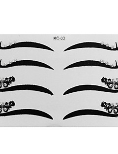 4 Pair Eyeliner Sticker with Rhinestones Makeup