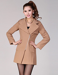 Lashabeney Elegant Slim Tailor Collar Coat(Camel)