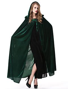 billige Voksenkostymer-Trollmann/heks Kappe Kvinnelig Halloween Karneval Festival/høytid Halloween-kostymer Blå Grønn Ensfarget