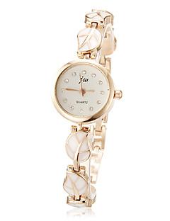 Damen Modeuhr Armband-Uhr Quartz Legierung Band Blätter Elegante Weiß Rosa Weiß Rosa