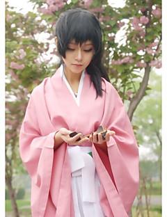 billige Videospill Kostymer-Inspirert av Cosplay Chizuru Yukimura video Spill Cosplay Kostumer Cosplay Suits / Japansk Kimono Ensfarget Rosa Topp / Bukser / Bælte
