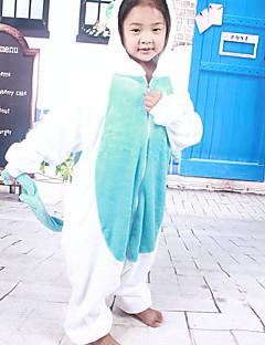 billige Halloweenkostymer-Kigurumi Pyjamas Enhjørning Trikot/Heldraktskostymer Festival/høytid Pysjamas med dyremotiv Halloween Lapper Kigurumi Til Barn Halloween