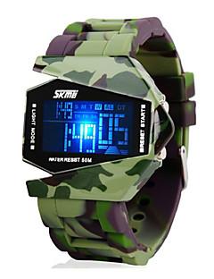billige Digitalure-SKMEI Herre Militærur Armbåndsur Digital Watch Digital Grøn 30 m Vandafvisende Alarm Kalender Digital Vedhæng - Sort To år Batteri Levetid / Kronograf / LCD / Maxell626 + 2025
