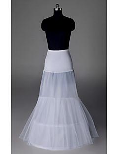 billiga Brudklänningsunderkjol-Underklänningar Sjöjungfru Underkjol Golvlång Organza Taft