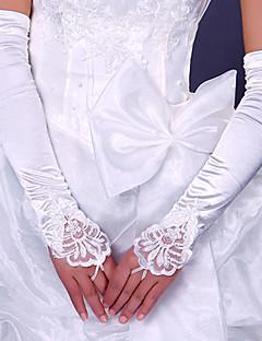 ストレッチサテン オペラレングス グローブ ブライダル手袋 パーティー/イブニング手袋