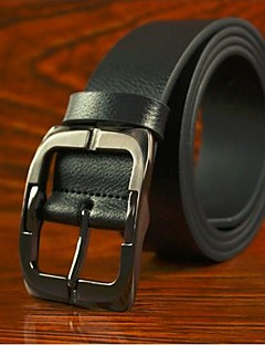 billige Trendy belter-Menns Luksuriøs Ekte skinn Pin Buckle Belt 3 Colors