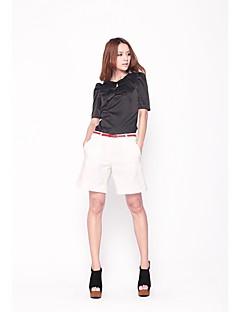 Zoely Kvinders Simple Broadside Casual White Shorts 101122K017