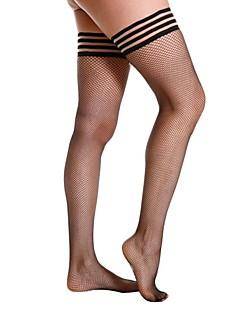 billige Sokker og strømper til damer-Dame Strømper-Stripet Tynn
