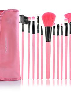 billige Sminkebørstesett-12pcs Makeup børster Profesjonell Børstesett Syntetisk hår / Kunstig fiber børste Begrenser bakterier