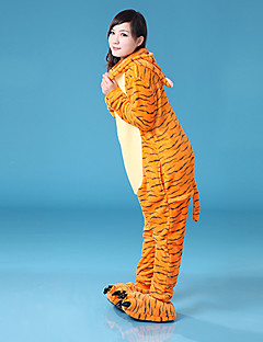 billige Kigurumi-Kigurumi-pysjamas Voksne Halloween Karneval Festival / høytid Halloween-kostymer Oransje