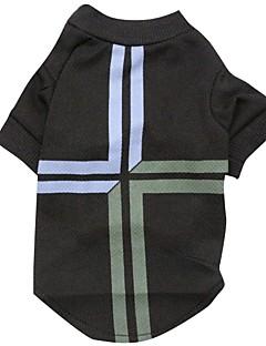 billiga Hundkläder-Katt Hund T-shirt Hundkläder Landsflagga Svart Terylen Kostym För husdjur