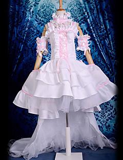 """billige Anime Kostymer-Inspirert av Chobits Chii Anime  """"Cosplay-kostymer"""" Cosplay Klær Kjoler Blonder Ermeløs Kjole Krage Ermer Armbind Til Dame"""