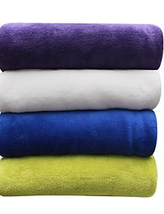 baratos Sólido-Velocino de Coral, Sólido Sólido 100% Poliéster cobertores