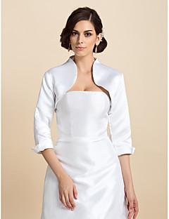 Cheap Satin Wedding Party Evening Wraps Coats Jackets