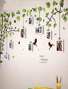 Duvar Sticker ile 9 Beyaz Fotoğraf Çerçevesi Seti