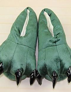billige Kigurumi-Kigurumi-tøfler Dinosaur Onesie-pysjamas Kostume polyester Bomull Grønn Cosplay Til Voksne Pysjamas med dyremotiv Tegnefilm Halloween