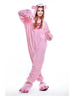 billige Kigurumi-Kigurumi-pysjamas Dyster bjørn Bjørn Vaskebjørn Onesie-pysjamas Kostume Polar Fleece Rosa Cosplay Til Pysjamas med dyremotiv Tegnefilm