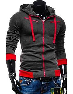 preiswerte Überbekleidung-Herrn Grundlegend Hoodie-Jacke Einfarbig
