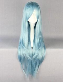 פאות קוספליי Sword Art Online Asuna Yuuki כחול ארוך אנימה פאות קוספליי 85 CM סיבים עמידים לחום נקבה