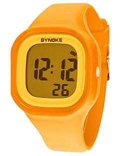 Women's Dress Watch Fashion Watch Digital Watch Wrist watch Quartz Digital Silicone Band Orange Strap Watch