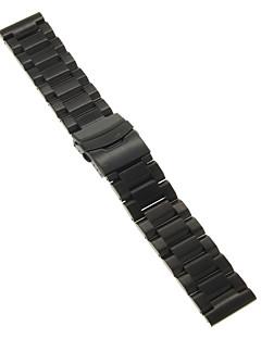 22mm de înaltă calitate negru / auriu oțel inoxidabil Watchband precise